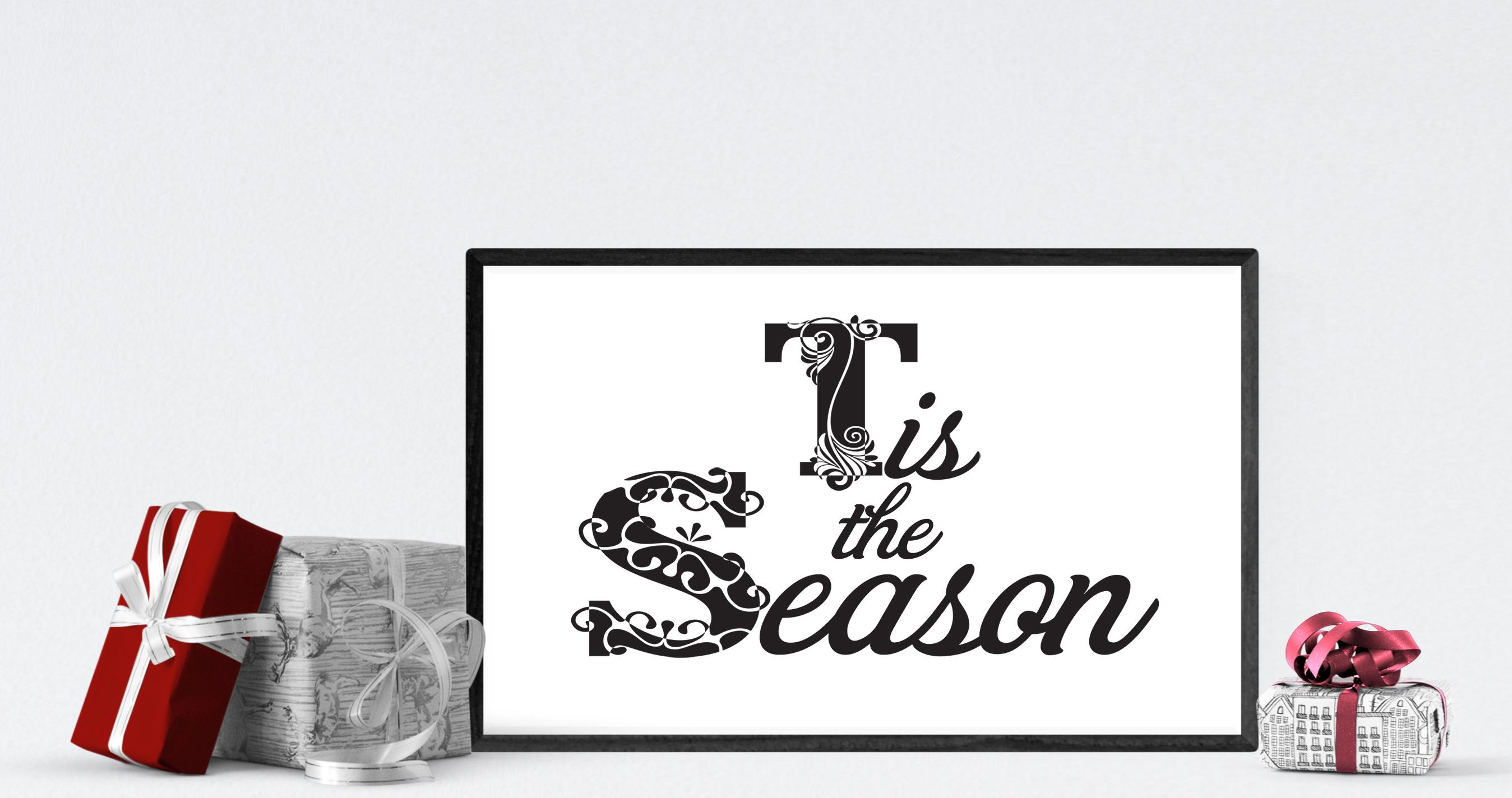 Free Tis the Season SVG File