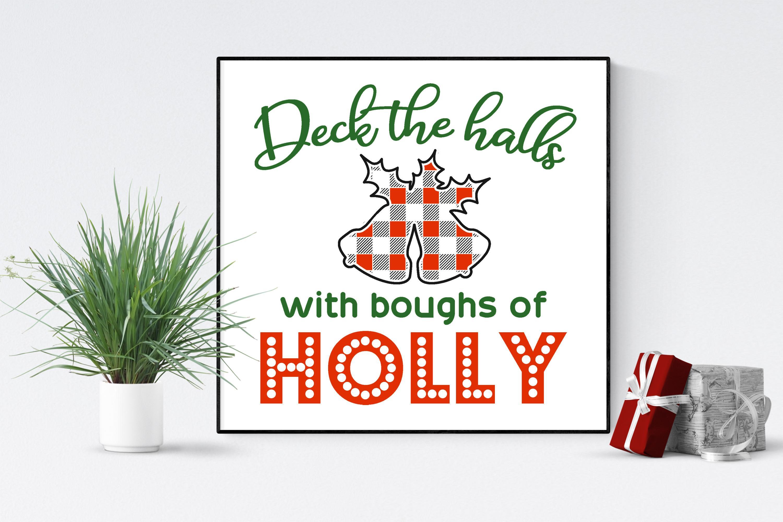 Free Deck the Halls SVG File