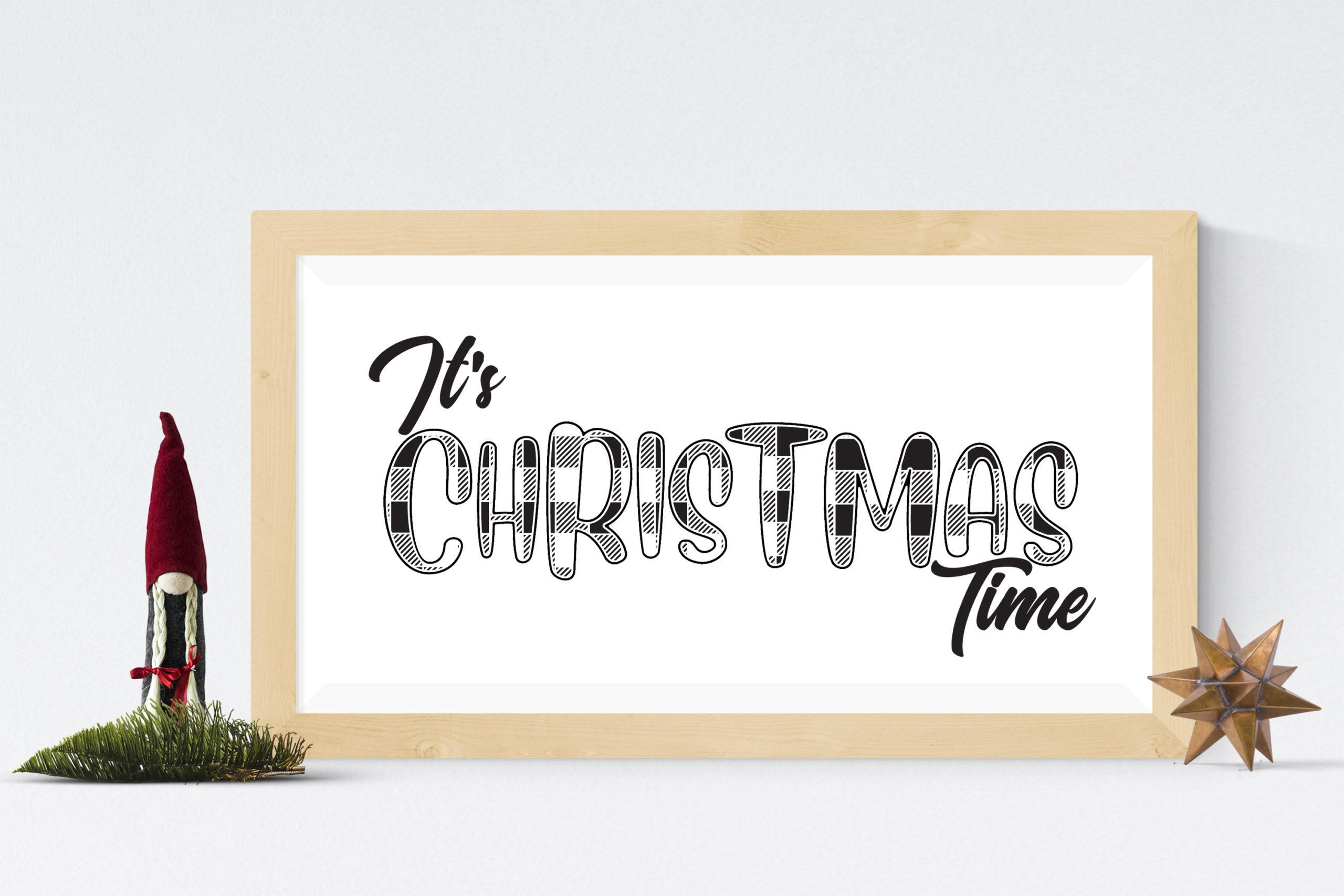 Free It's Christmas Time SVG File