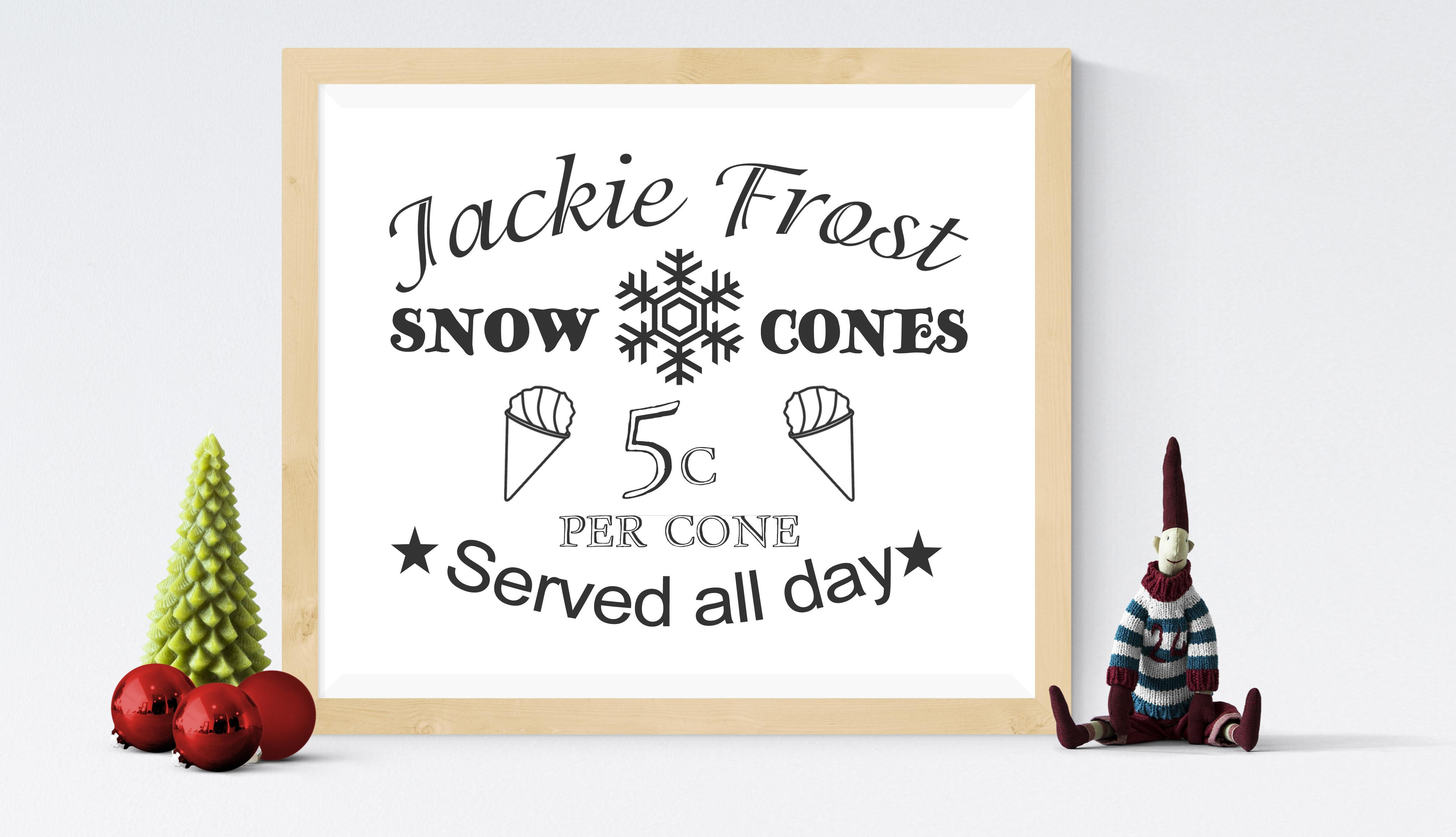 Free Jackie Frost SVG File