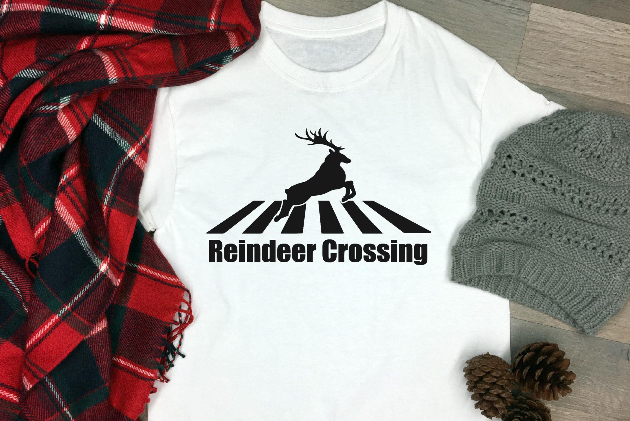 Free Reindeer Crossing SVG File