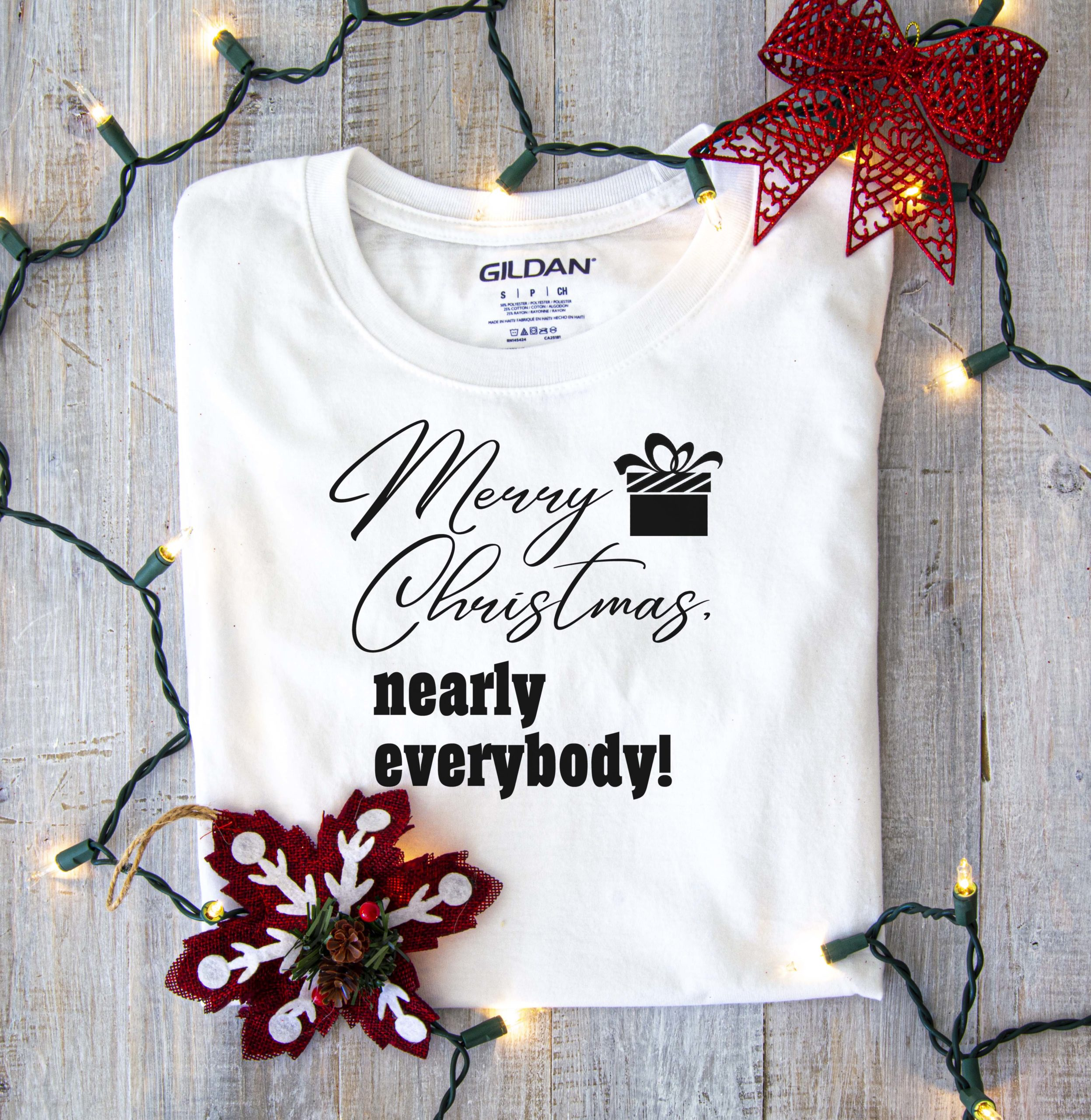 Free Merry Christmas, Nearly Everybody SVG File