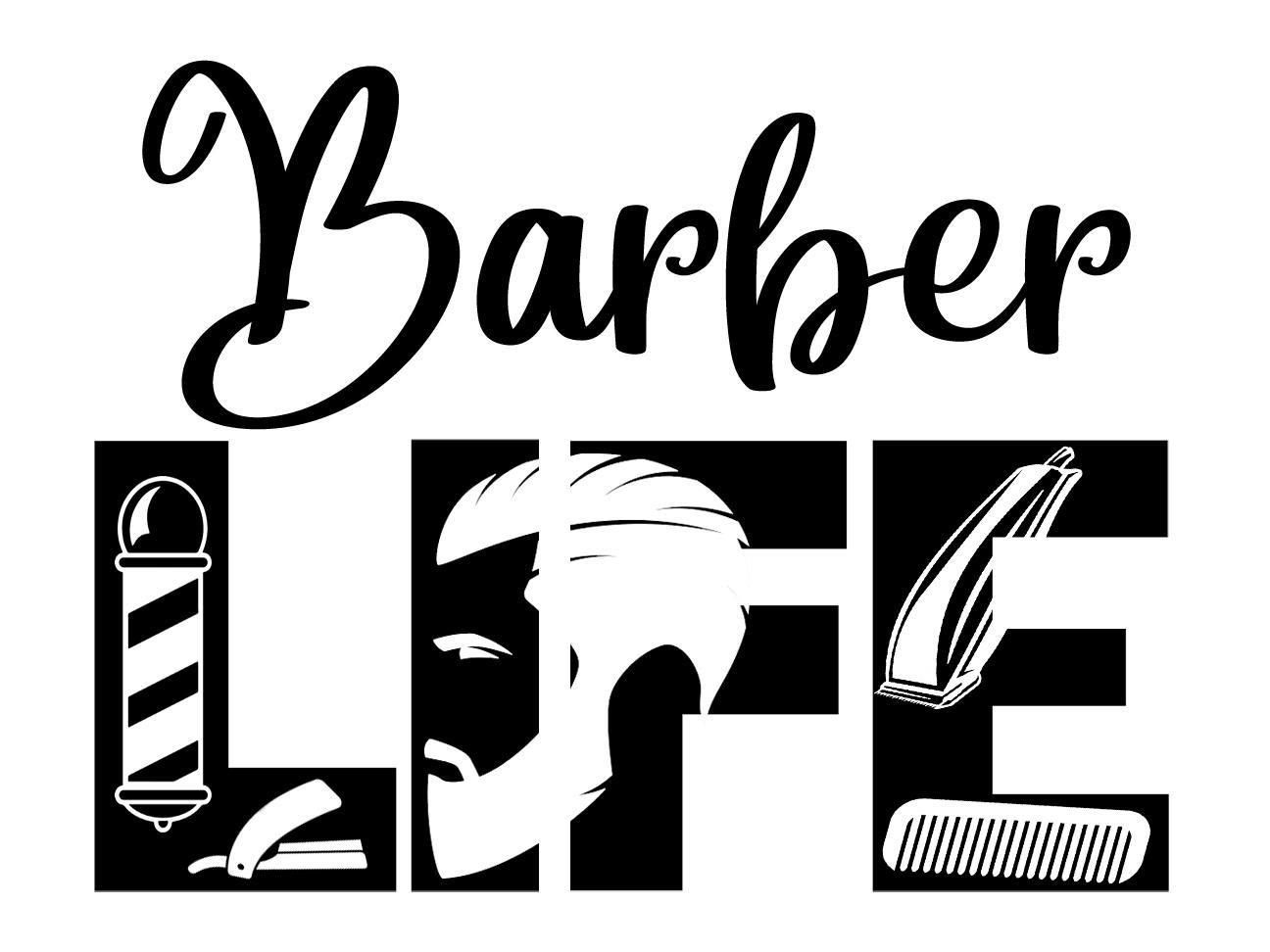 Free Barber Life SVG File