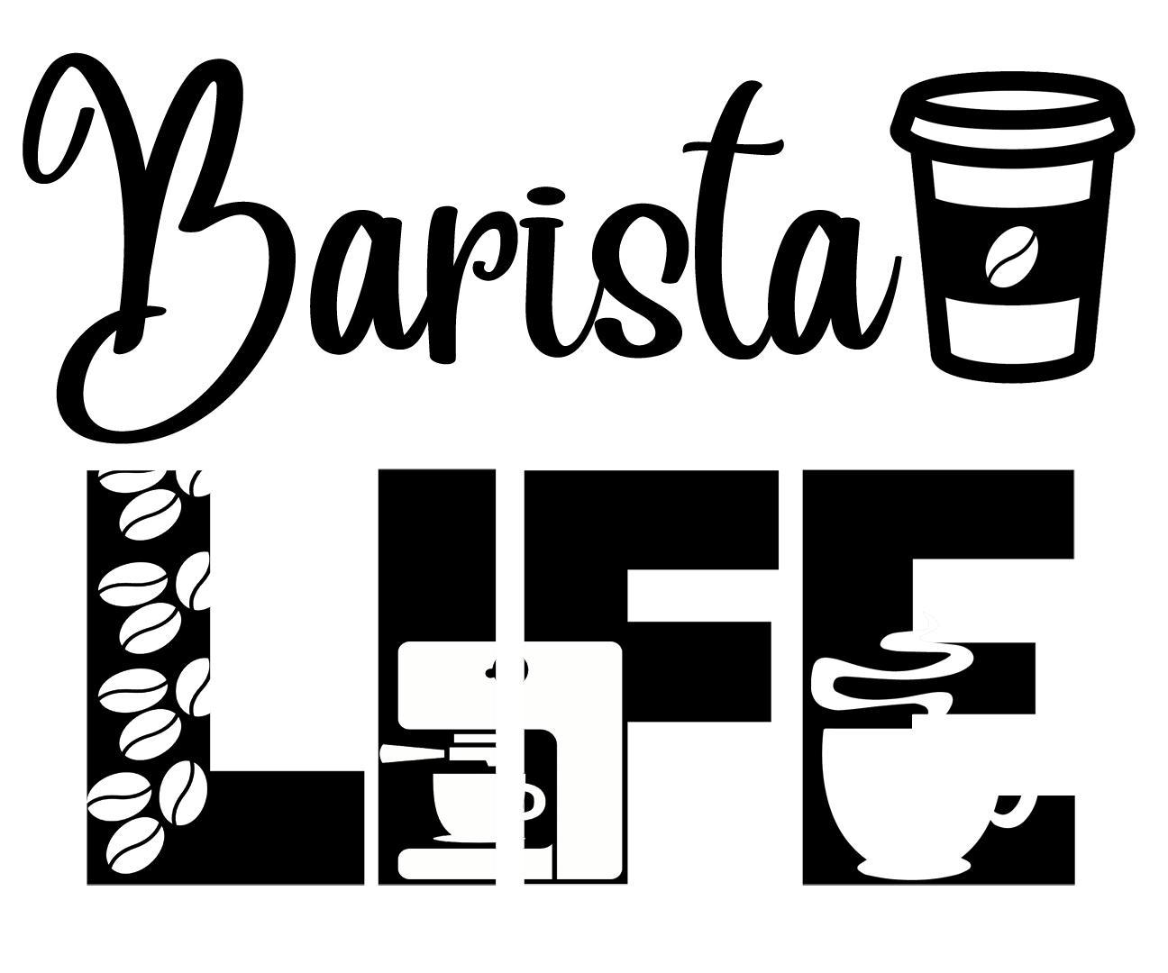Free Barista Life SVG File