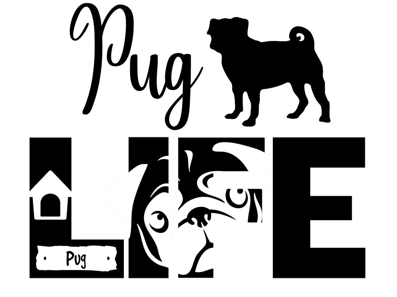 Free Pug Life SVG file