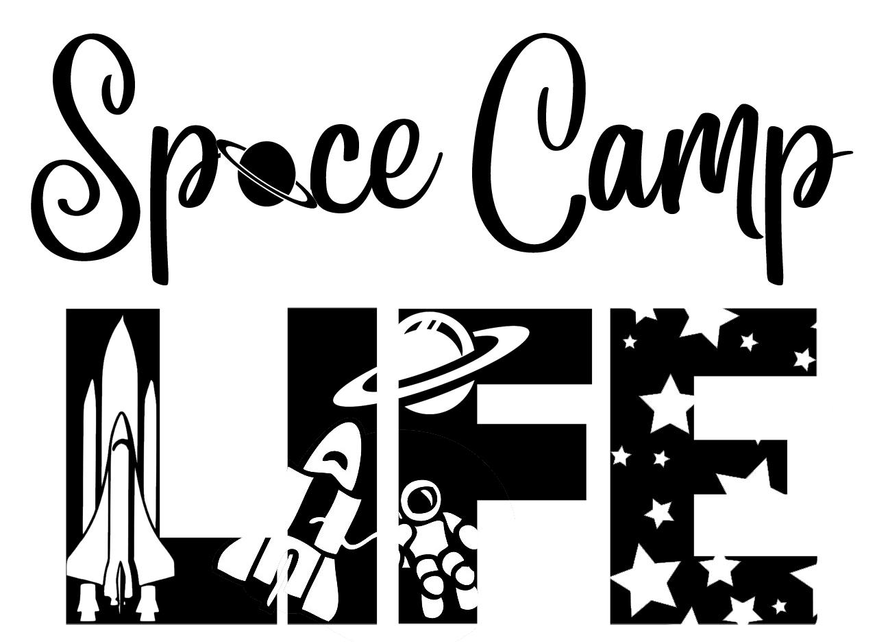 Free Space Camp SVG File