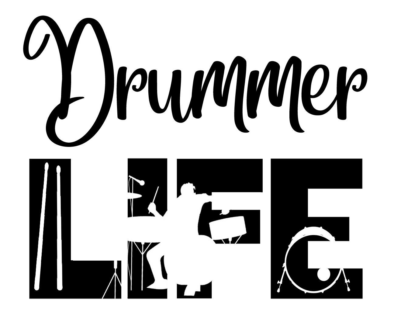 Free Drummer Life SVG File