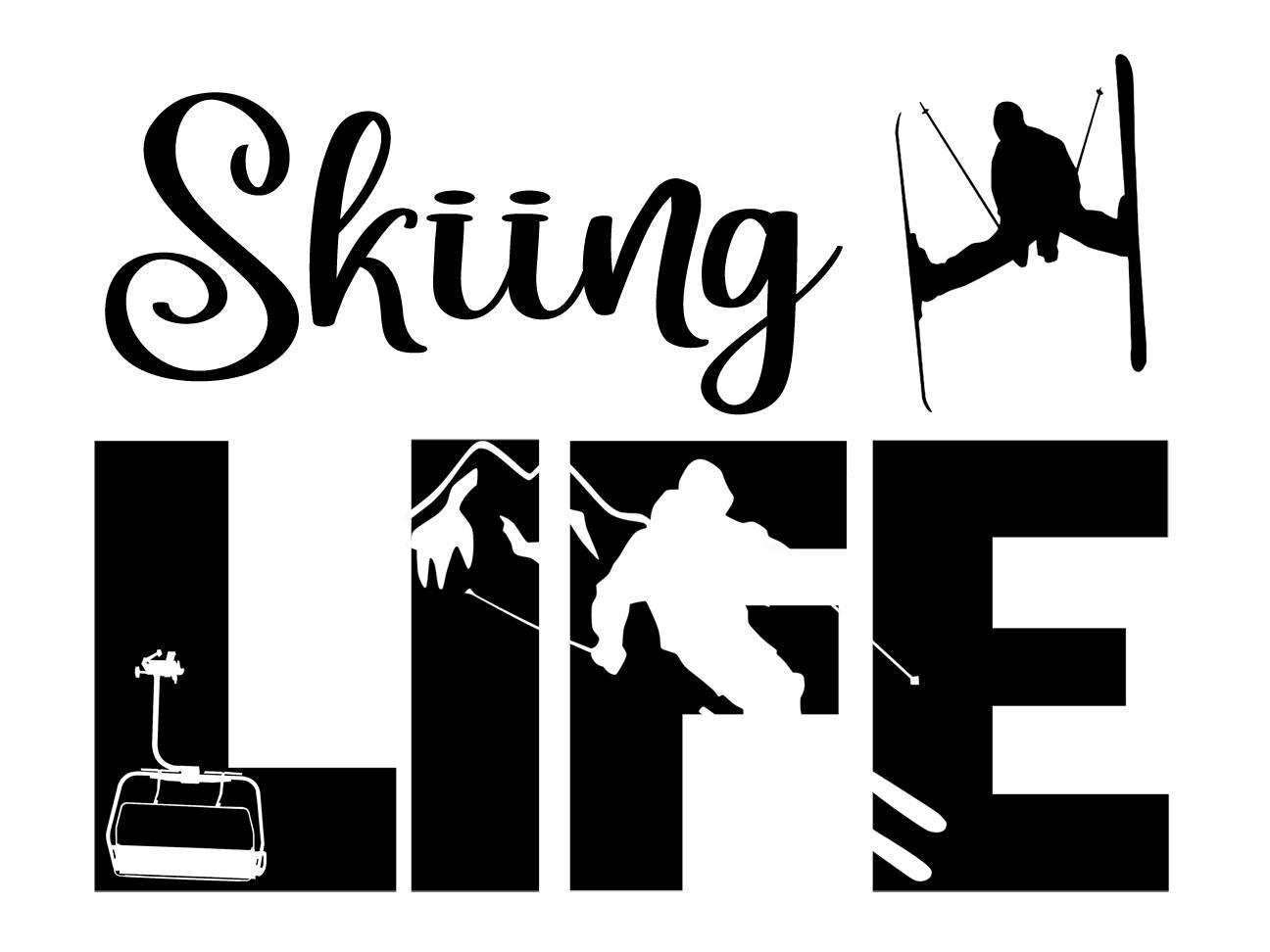 Free Skiing Life SVG File