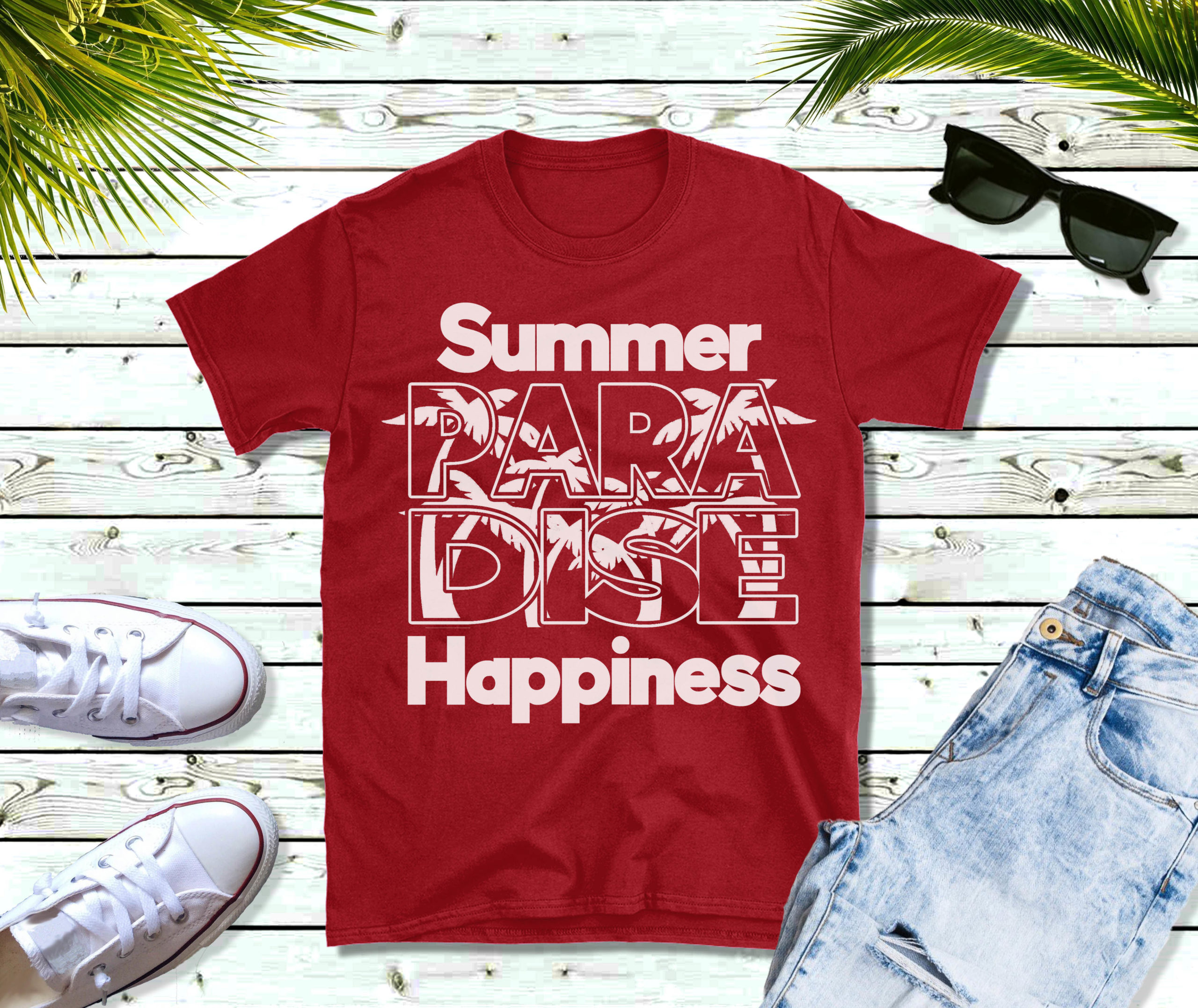 Free Summer Paradise Happiness SVG File