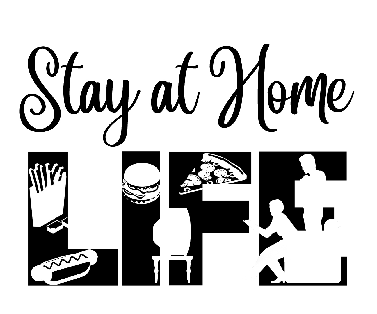 Free Stay at Home SVG File