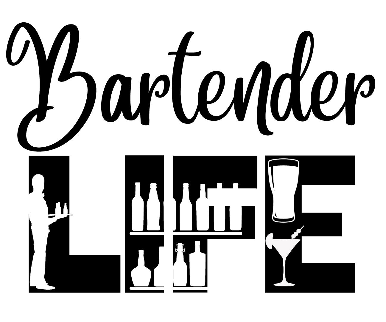 Free Bartender Life SVG File