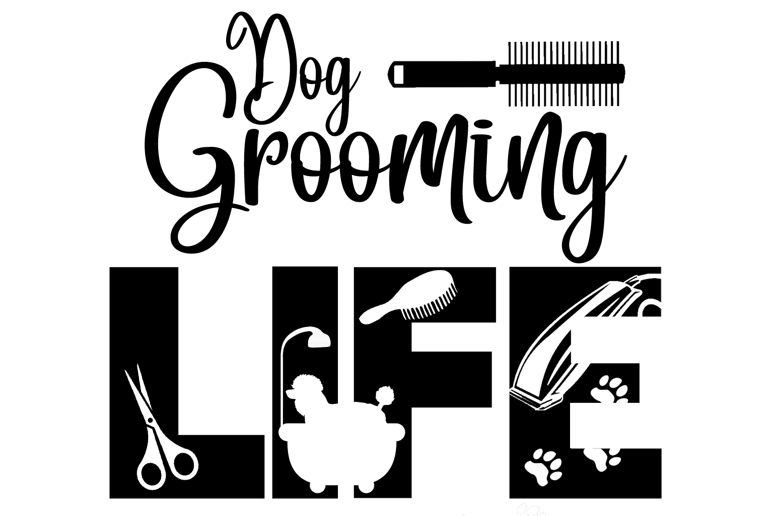 Free Dog Grooming Life SVG File