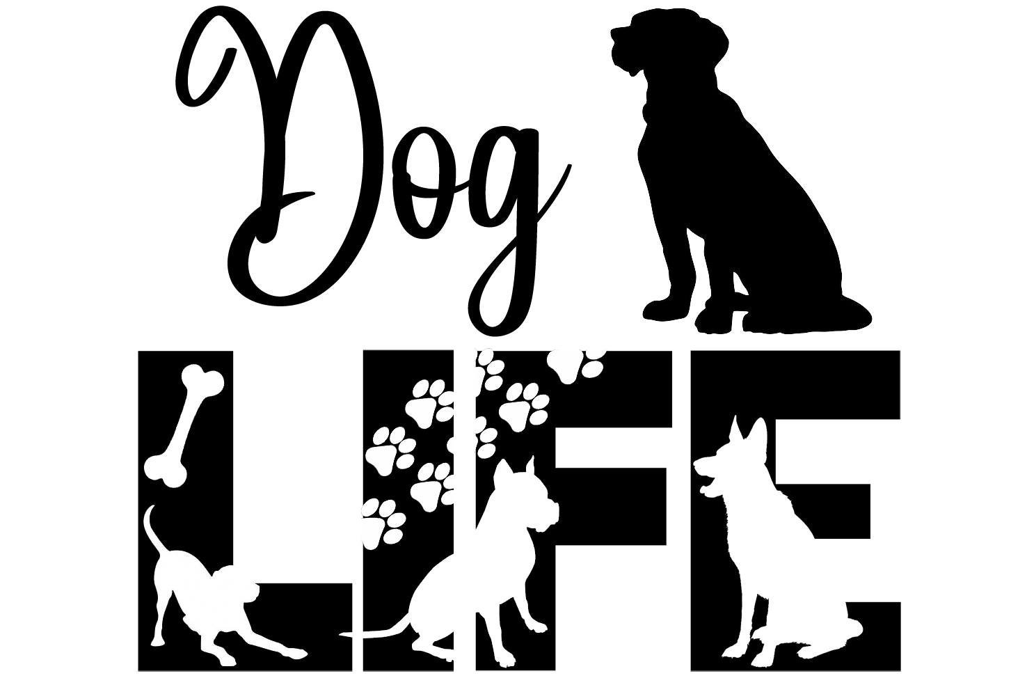 Free Dog Life SVG File