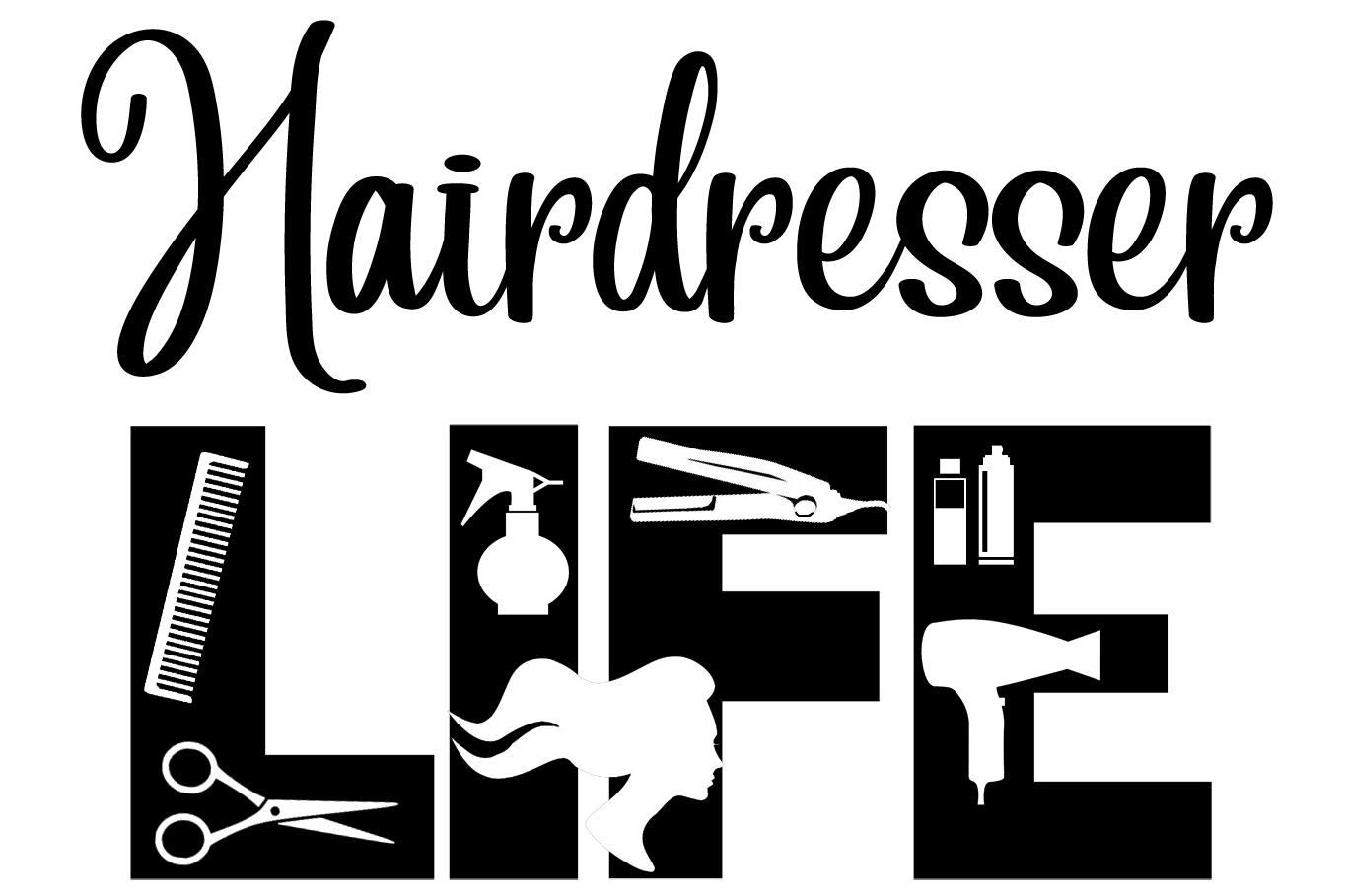 Free Hairdresser Life SVG File