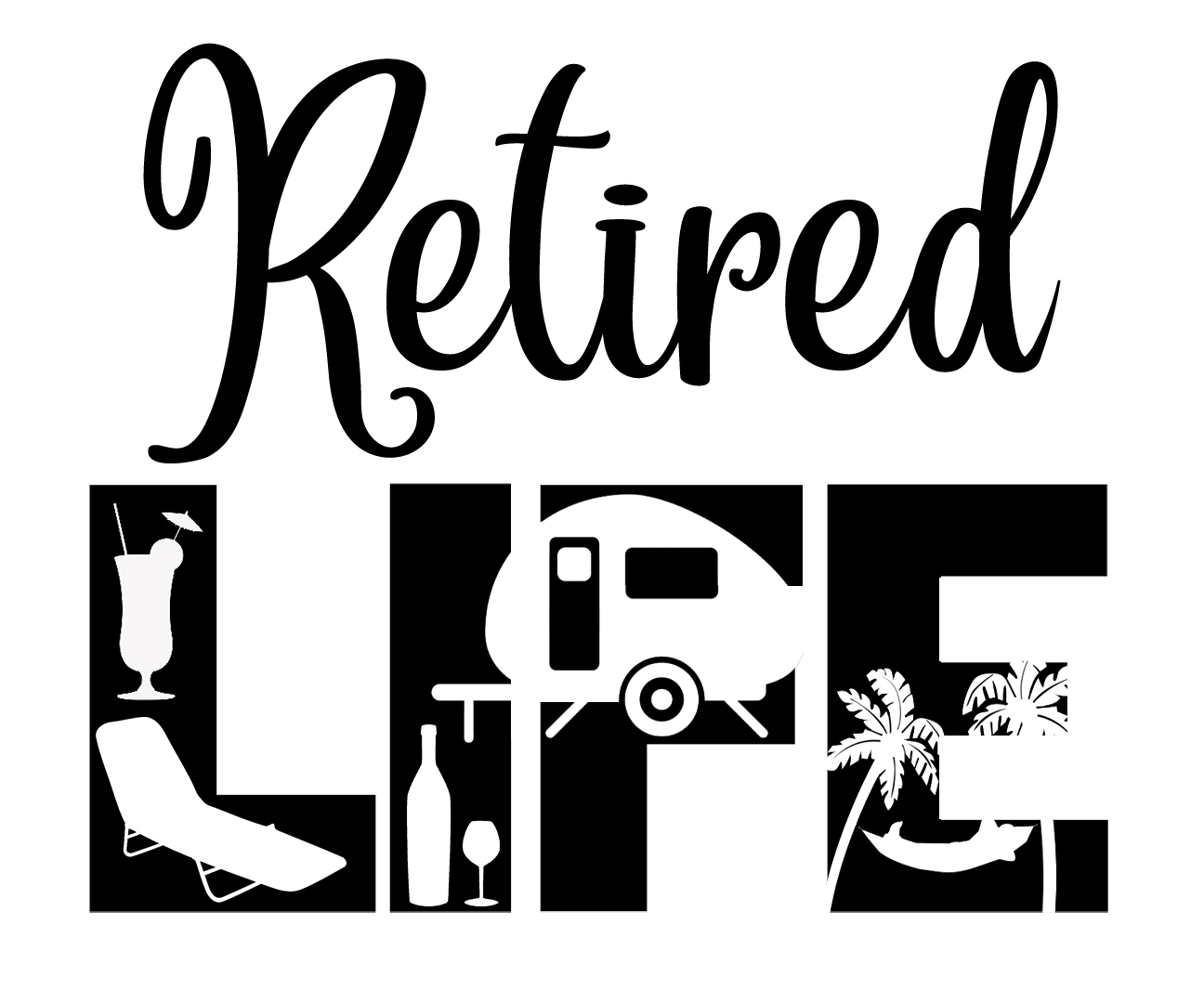 Free Retired Life SVG File