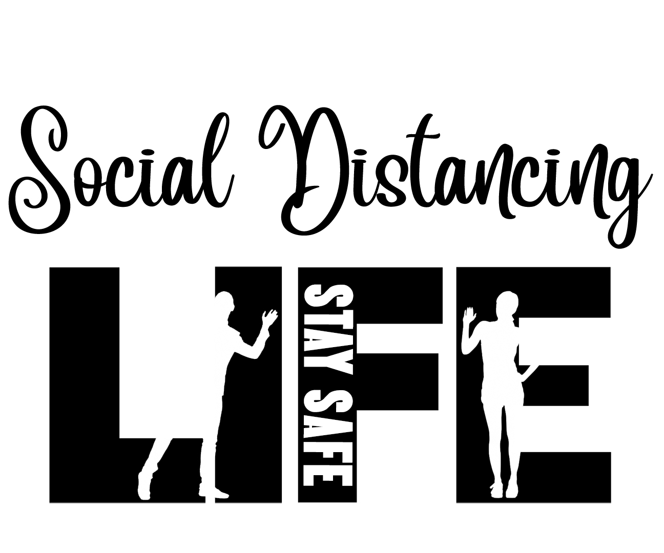 Free Social Distancing SVG File