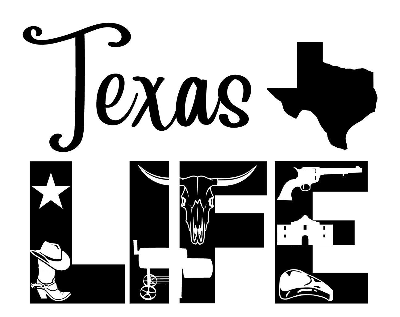Free Texas Life SVG File
