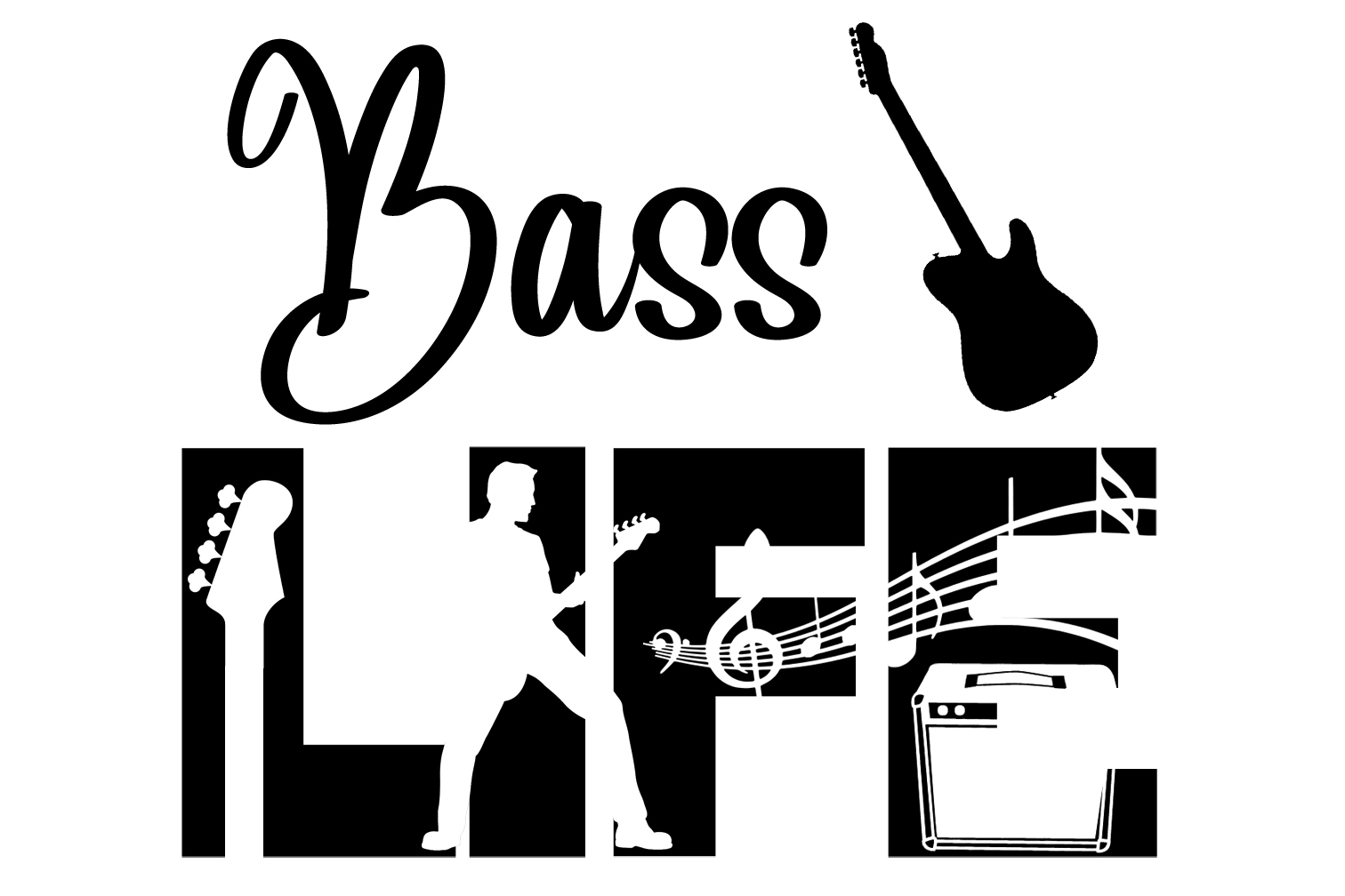 Free Bass Life SVG File