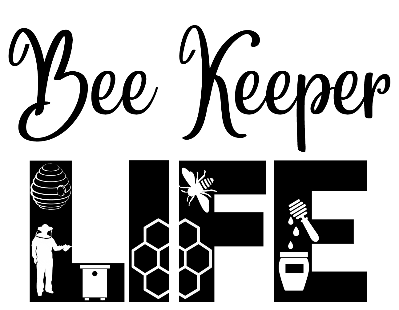 Free Bee Keeper Life SVG
