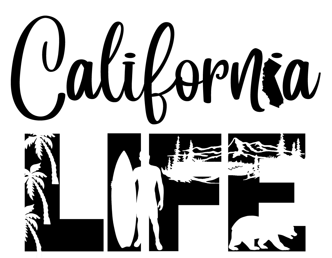 Free California Life SVG File