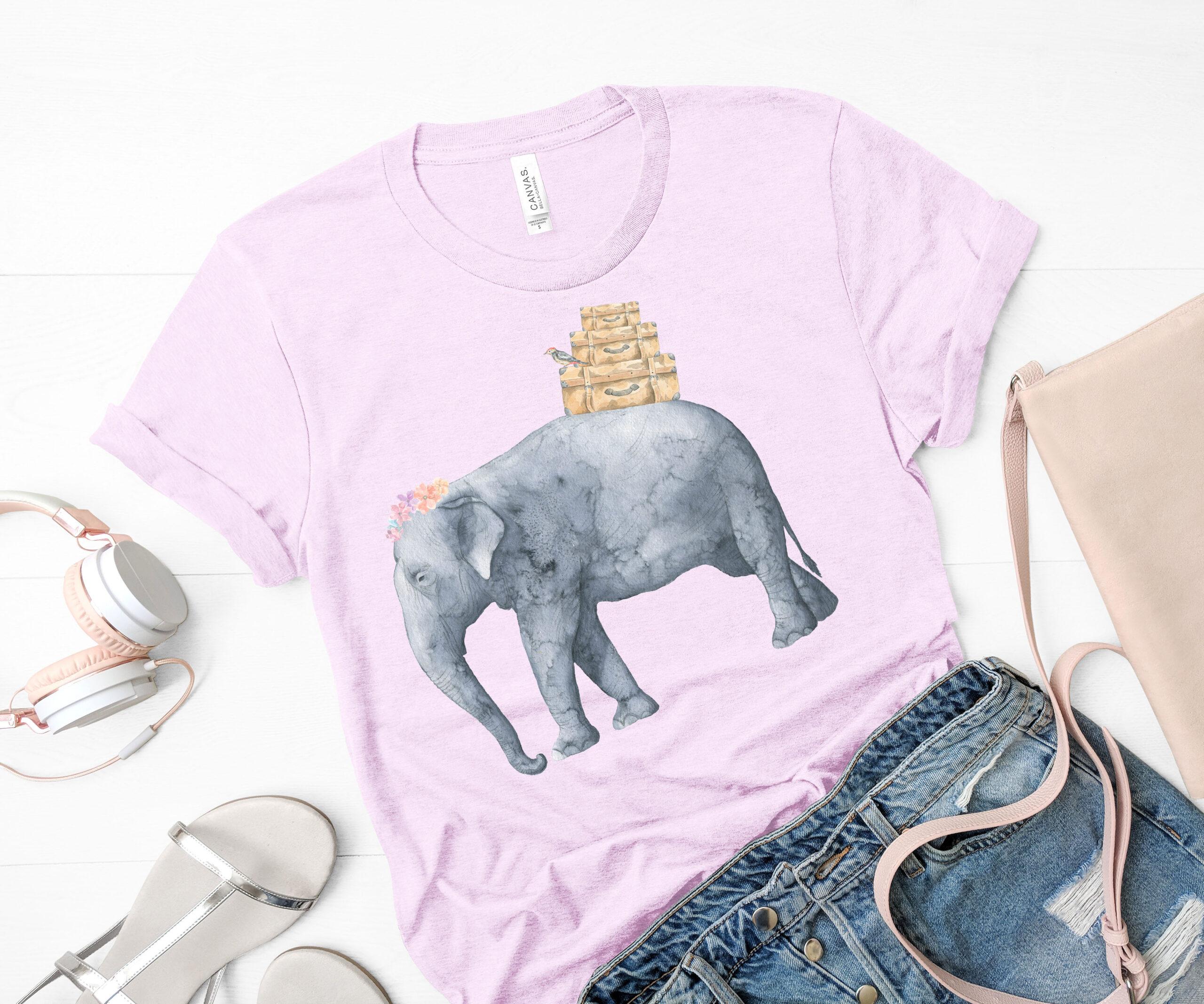 Free Elephant Holiday Sublimation Image