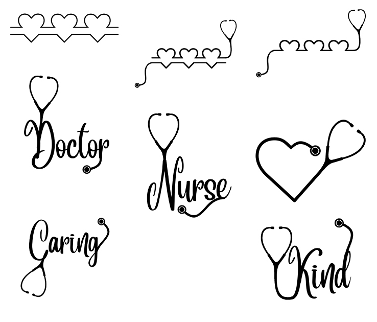 Free Hearts SVG File Pack