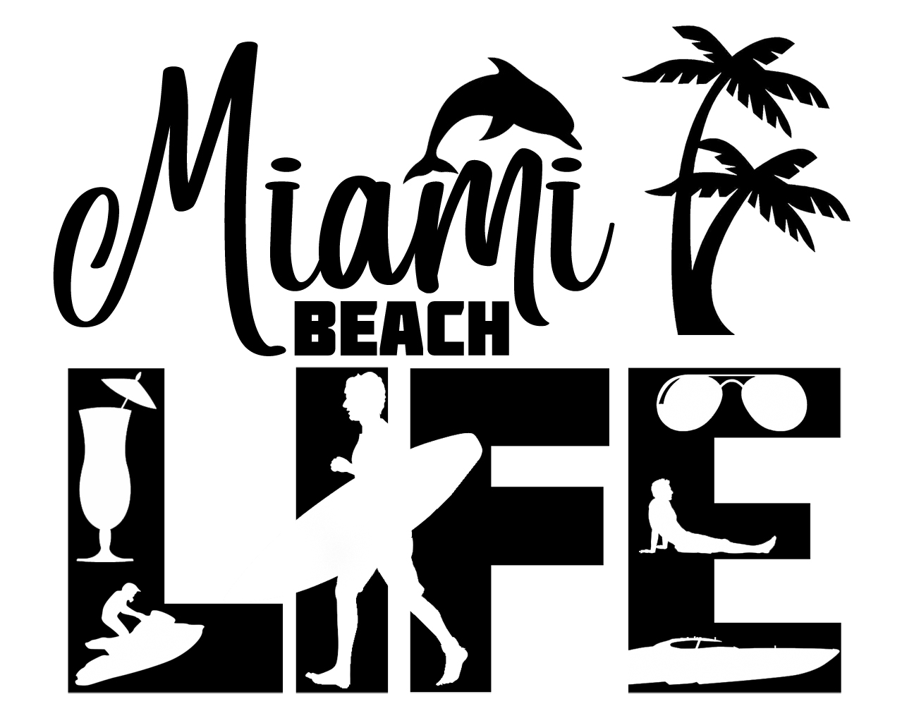 Free Miami Beach Life SVG File
