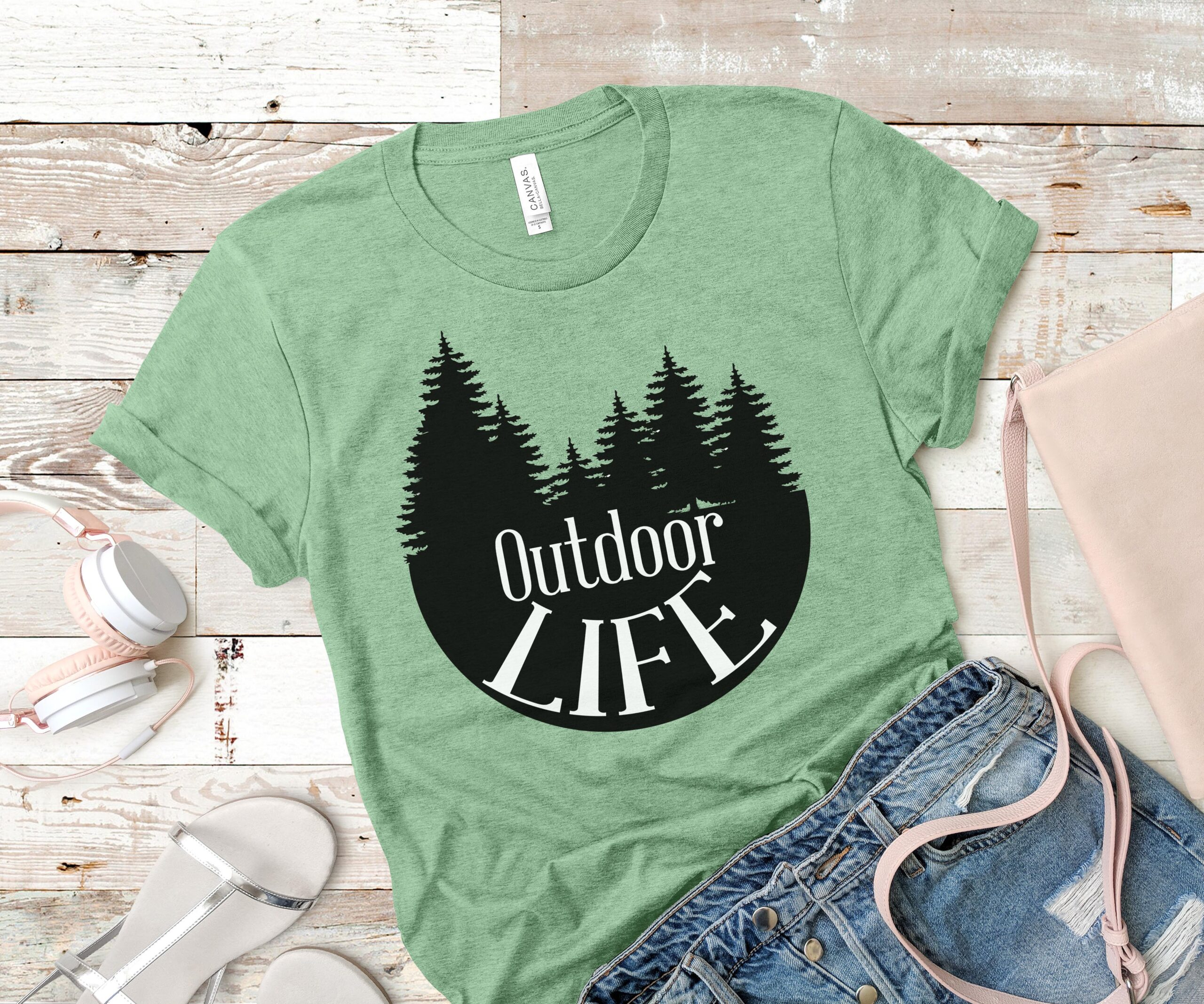 Free Outdoor Life SVG T Shirt Design