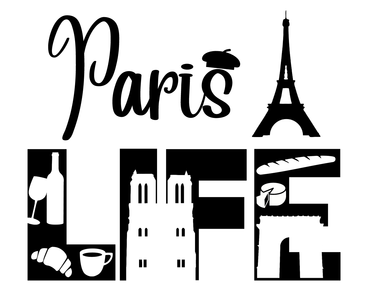 Free Paris Life SVG File