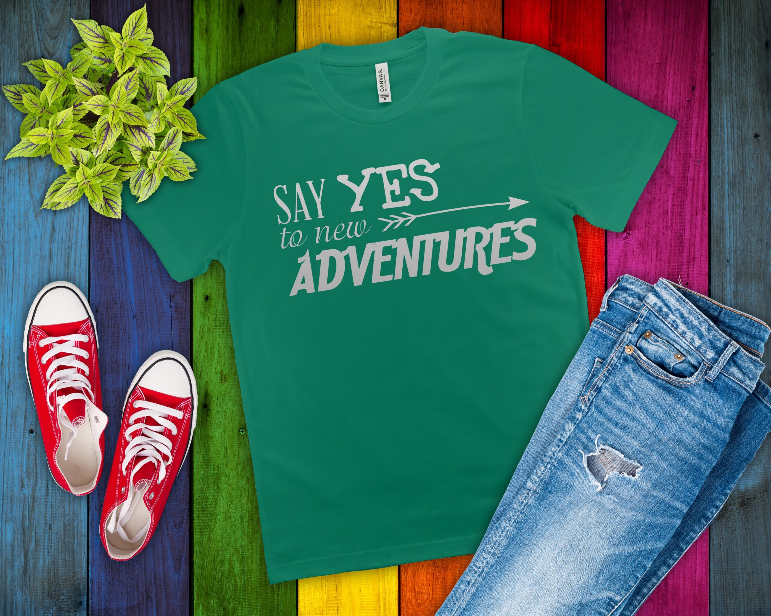 Free Say Yes to New Adventures SVG File