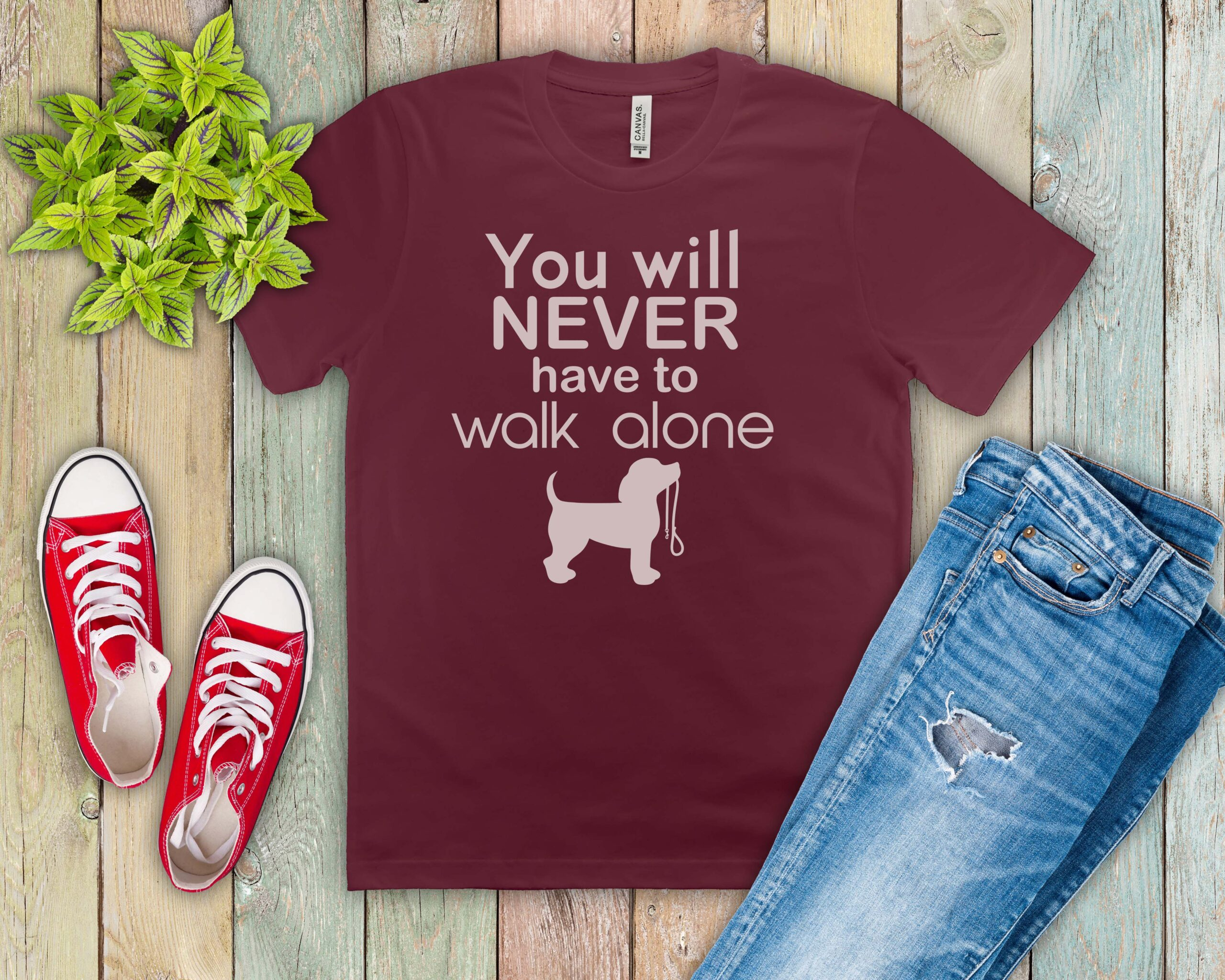 Free Never Walk Alone SVG File