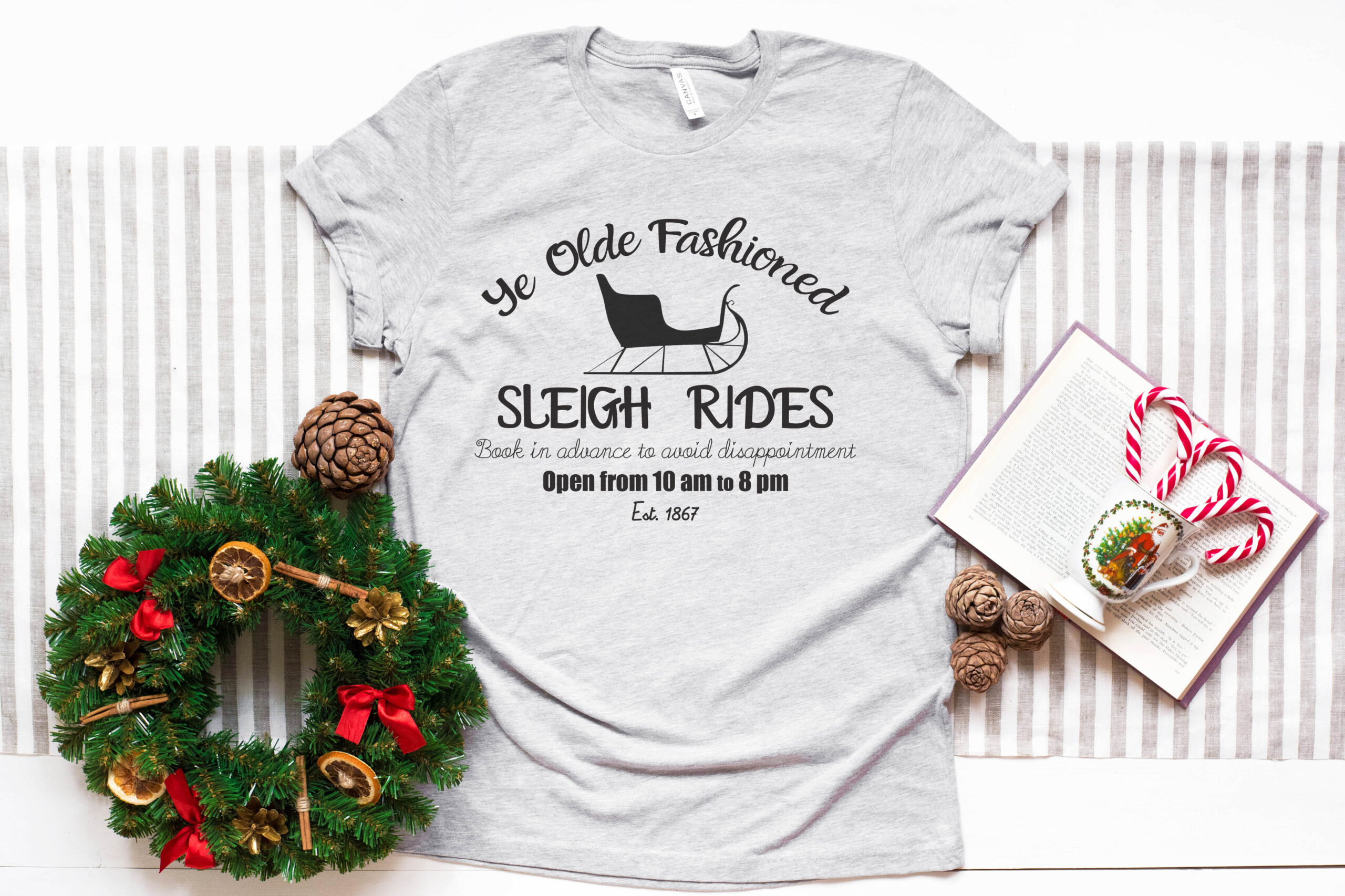 Free Ye Olde Fashioned Sleigh Rides SVG File