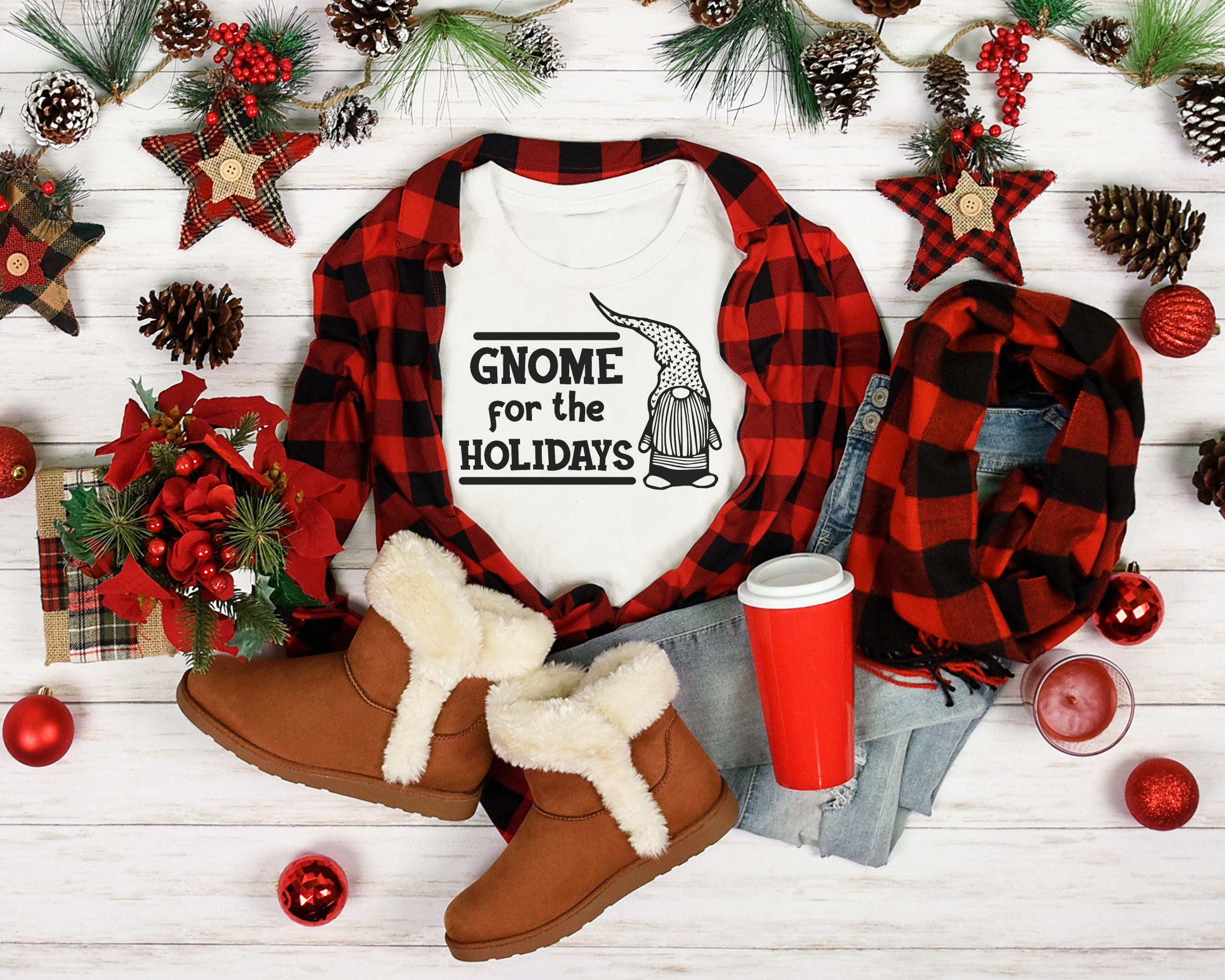 Free Gnome for the Holidays SVG File