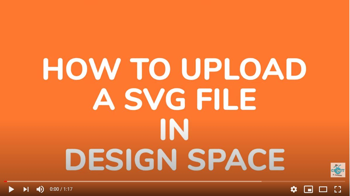 How to upload a SVG to Design Space