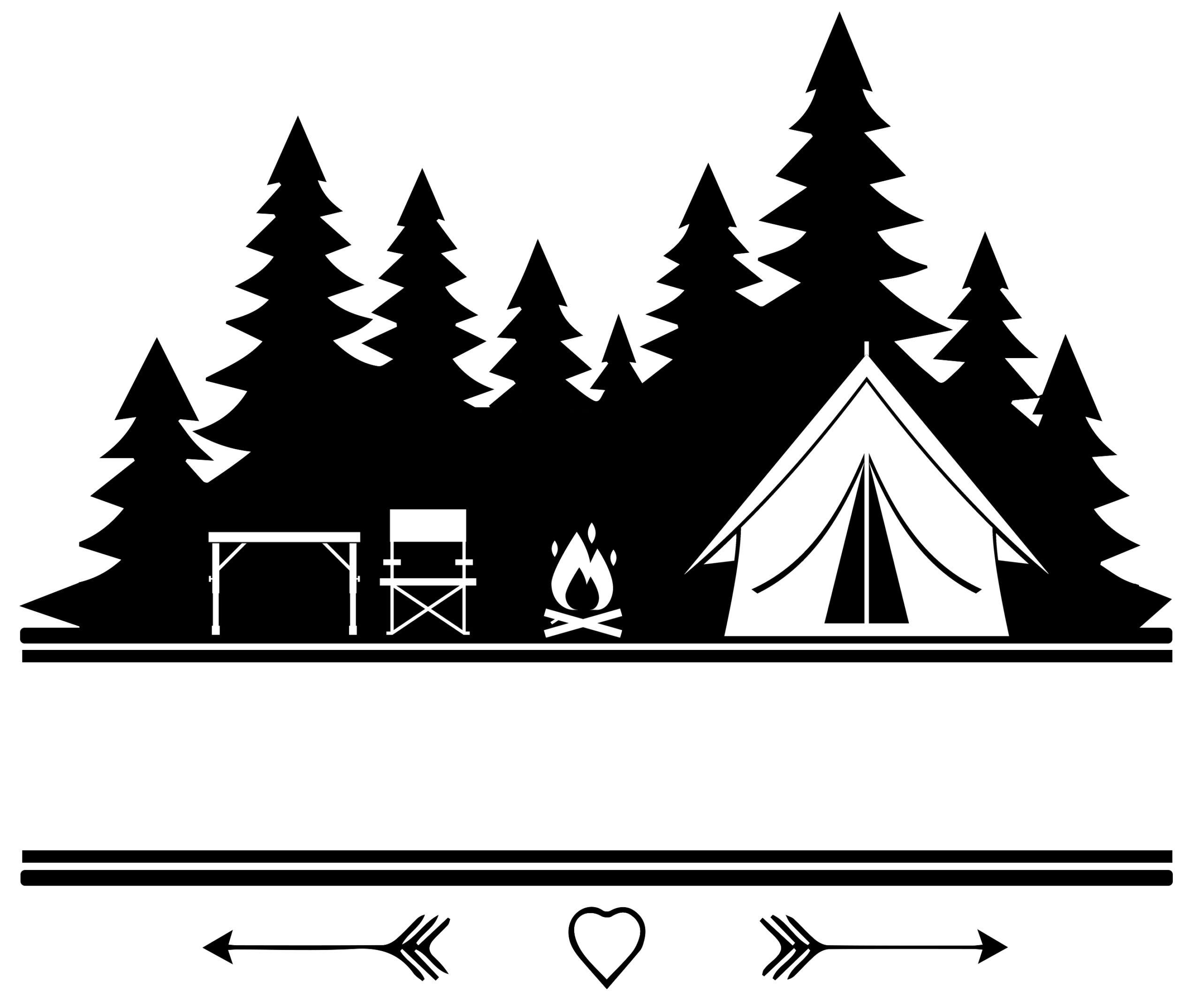 Free Split Camping SVG File