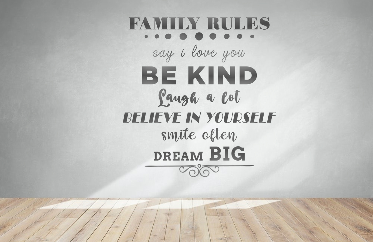 Free Family Rules SVG File