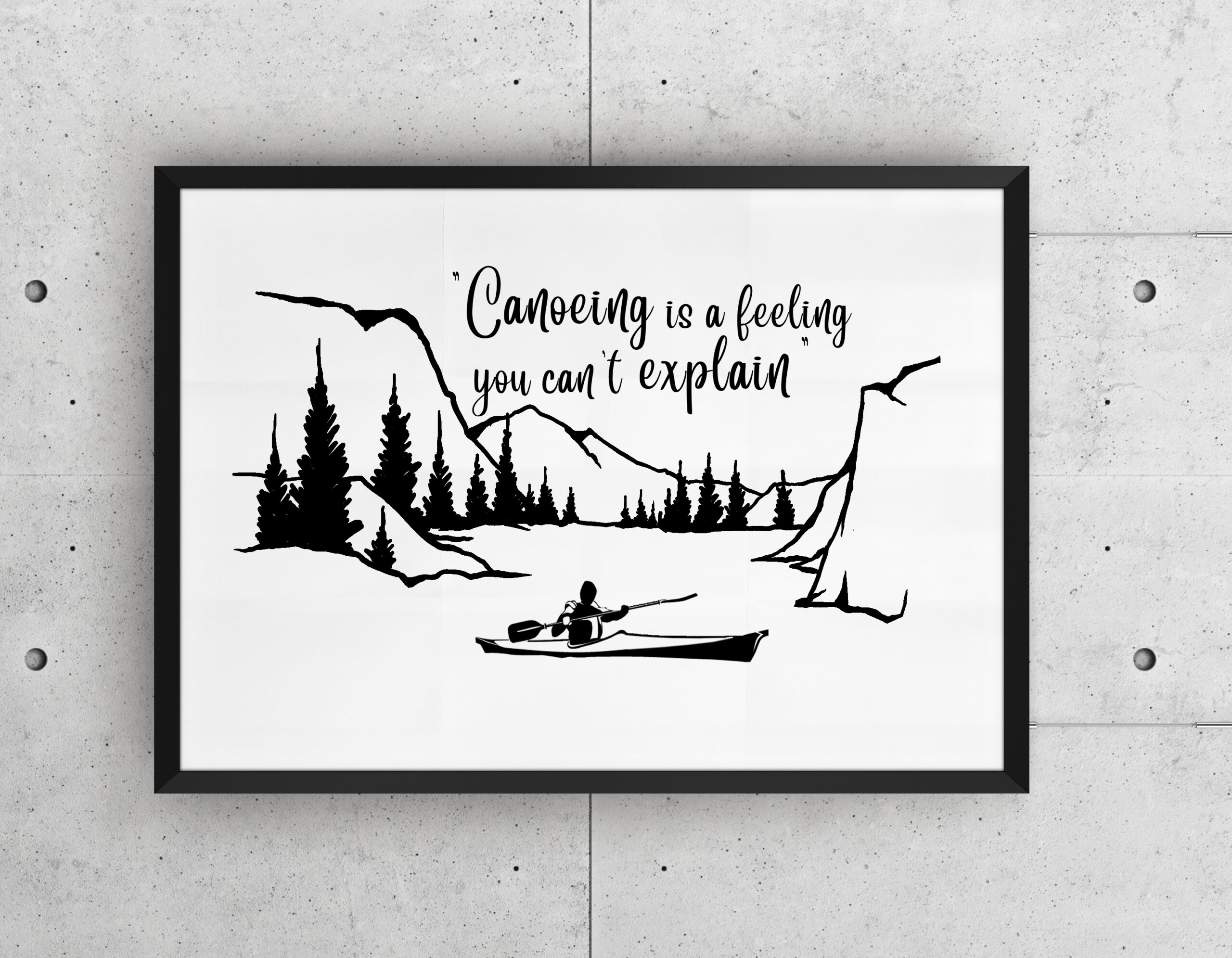 Free Canoeing SVG File