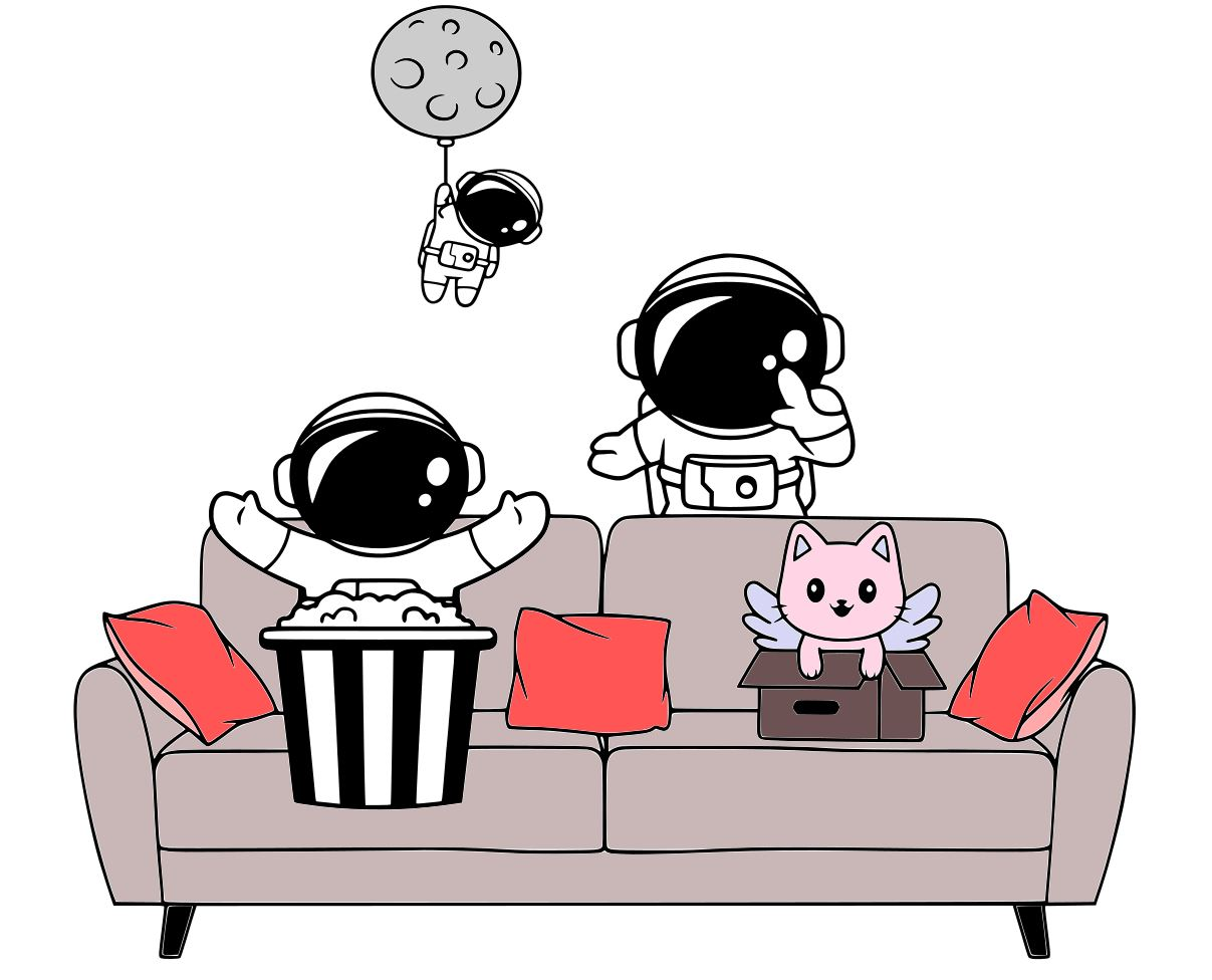Free Spacemen on the Sofa SVG File