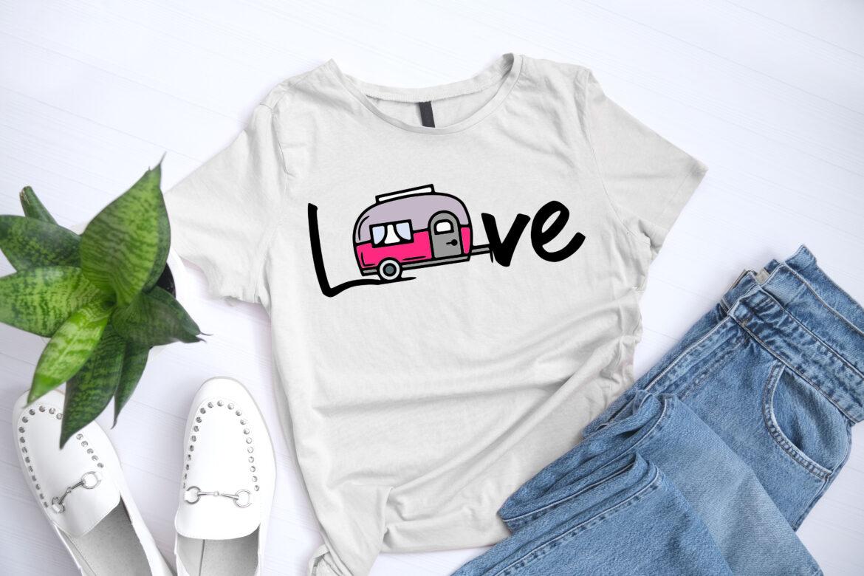 Free Love Caravan SVG File