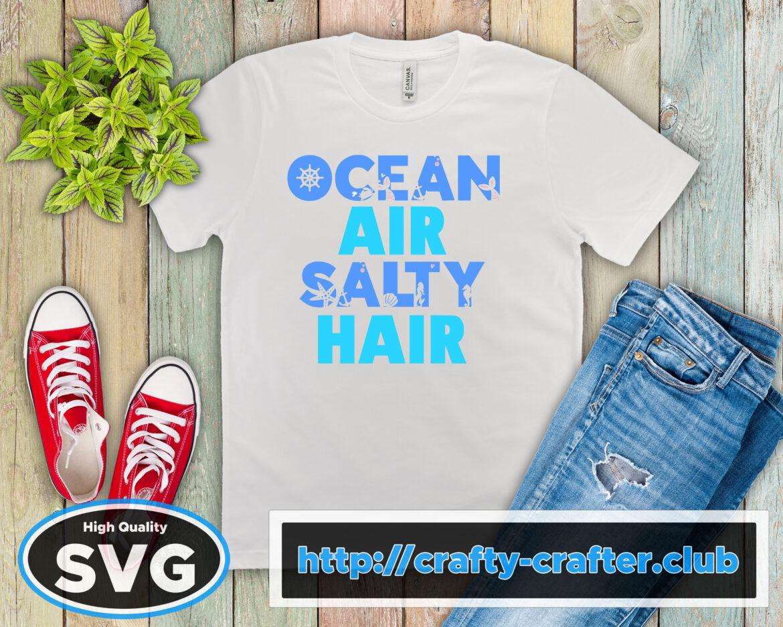 Free Ocean Air Salty Hair SVG File