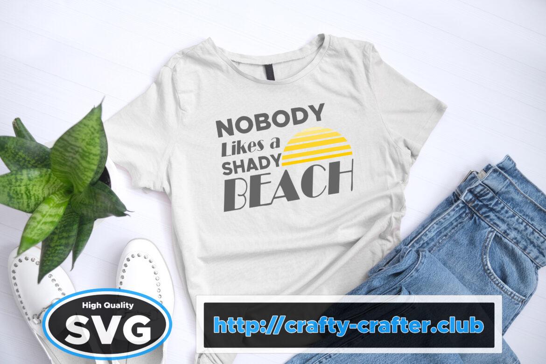 Free Shady Beach SVG File