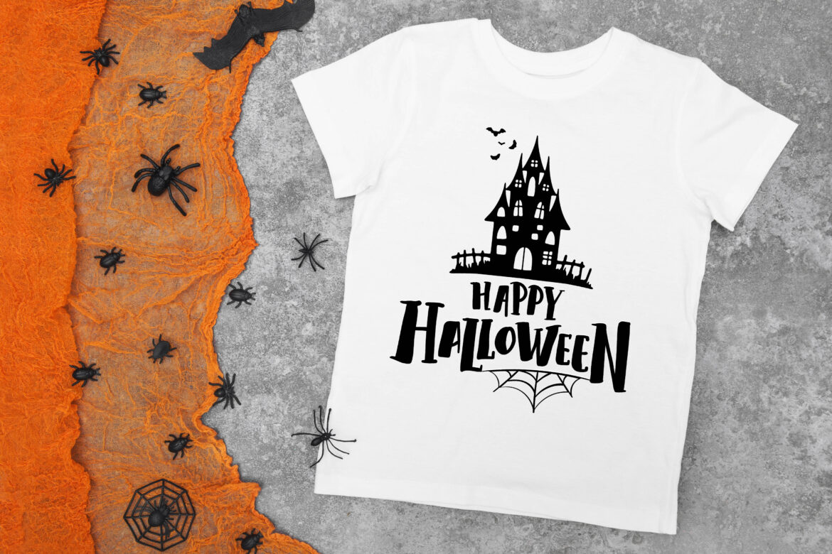 Free Happy Halloween Haunted House SVG File