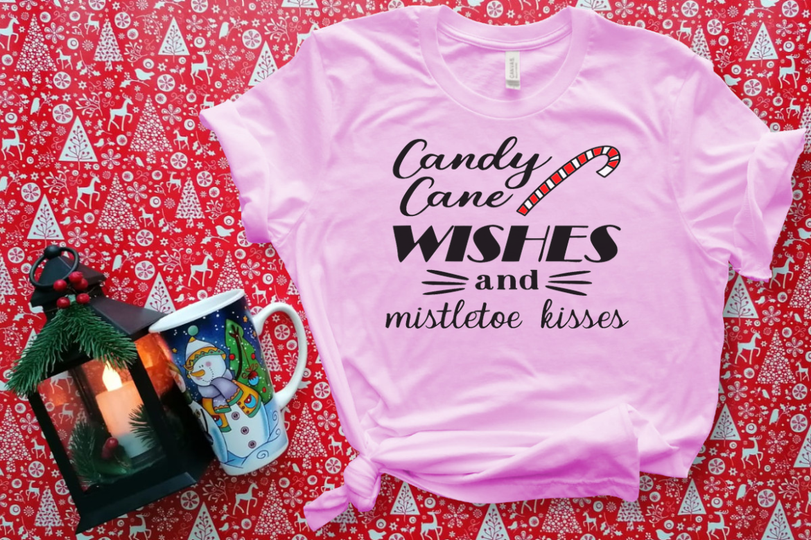 Free Candy Cane Wishes SVG File