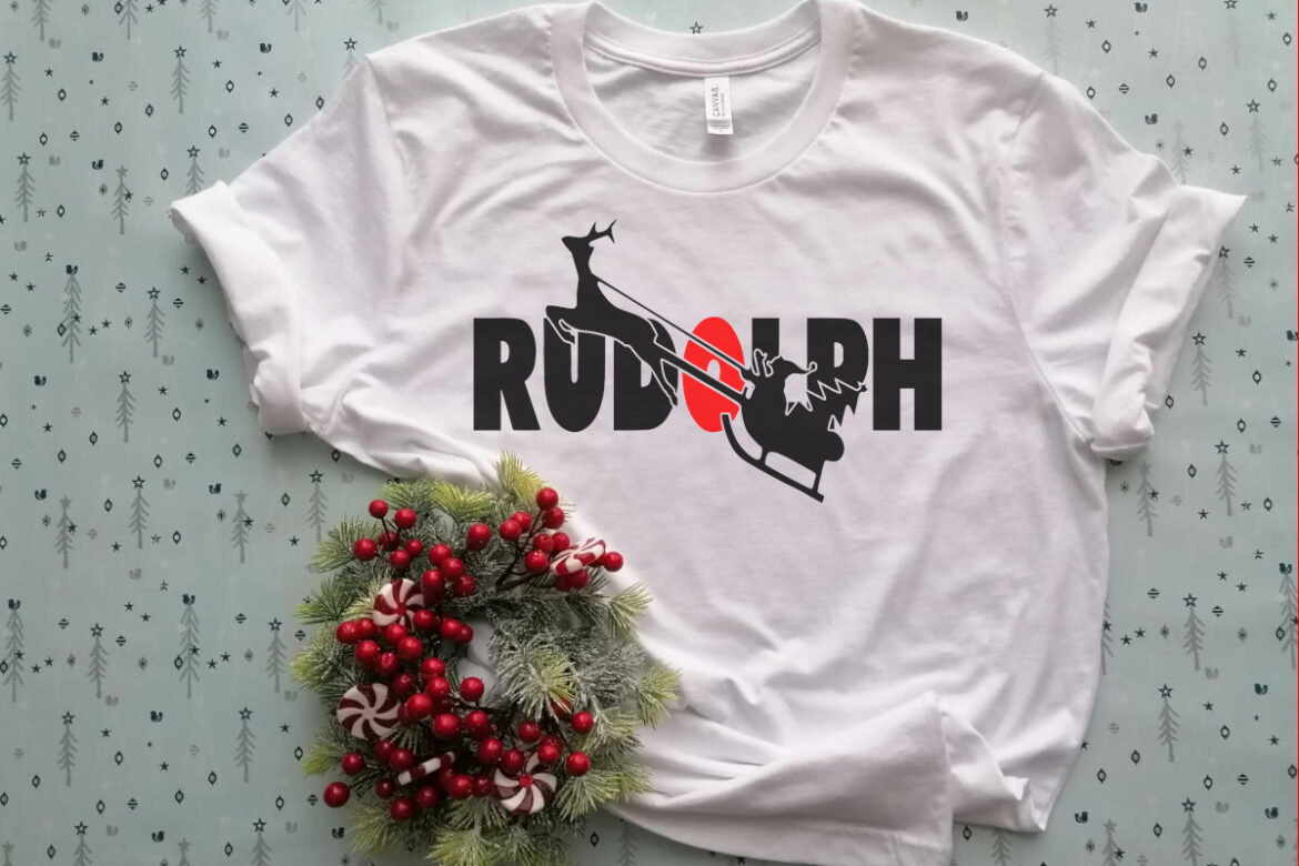 Free Flying Rudolph T Shirt SVG File