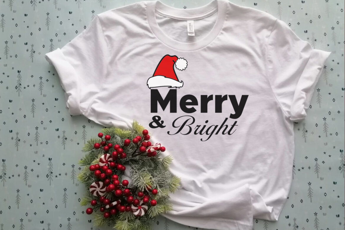 Free Merry and Bright SVG File